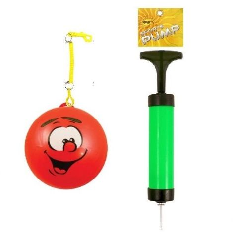 Smelly Fruits Smiley Face Foot Ball With Hook, Spiral Keyring and Sports Pump Set